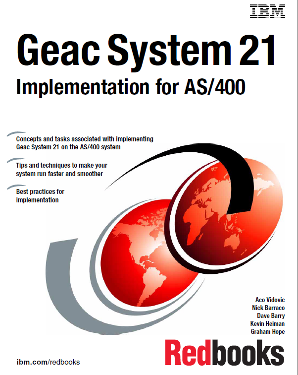 Geac System 21 Implementation for AS/400